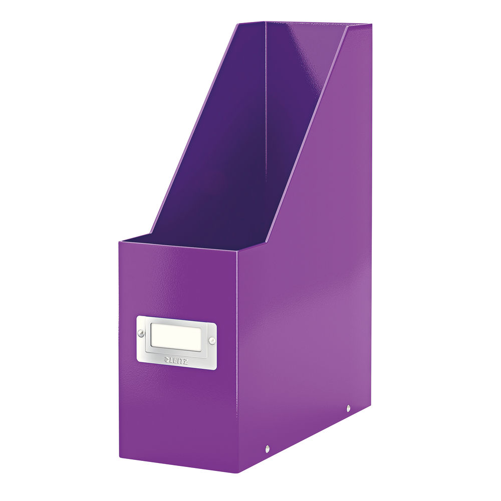 Leitz WOW Purple Click and Store Magazine File - 60470062