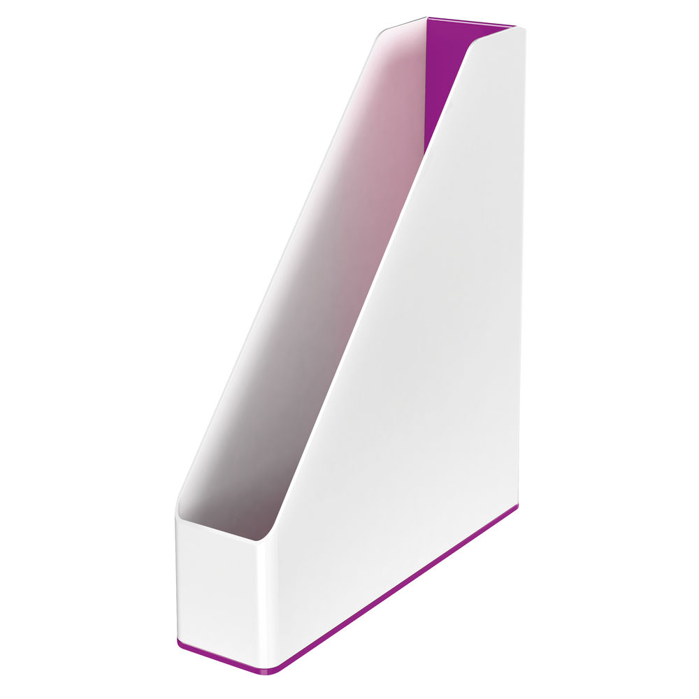 Leitz WOW White and Purple Dual Colour Magazine File- 53621062