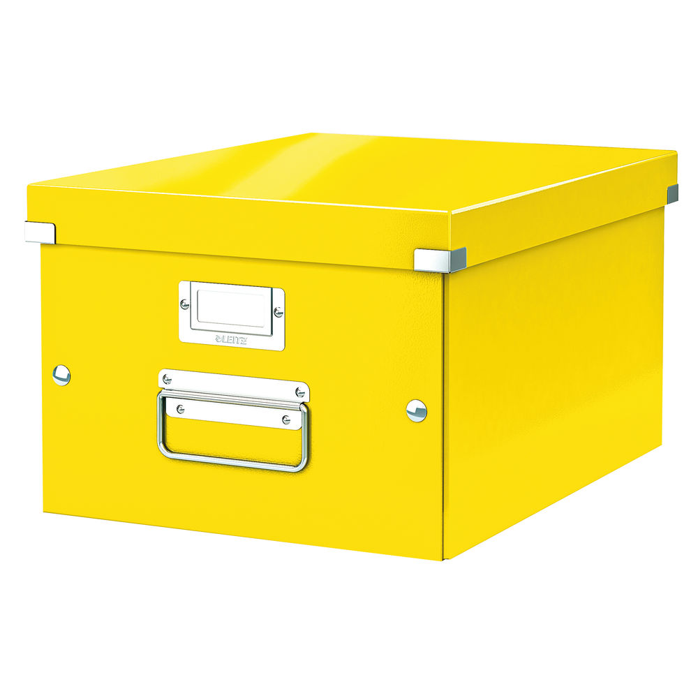 Leitz WOW Yellow Click and Store Box - 60440016