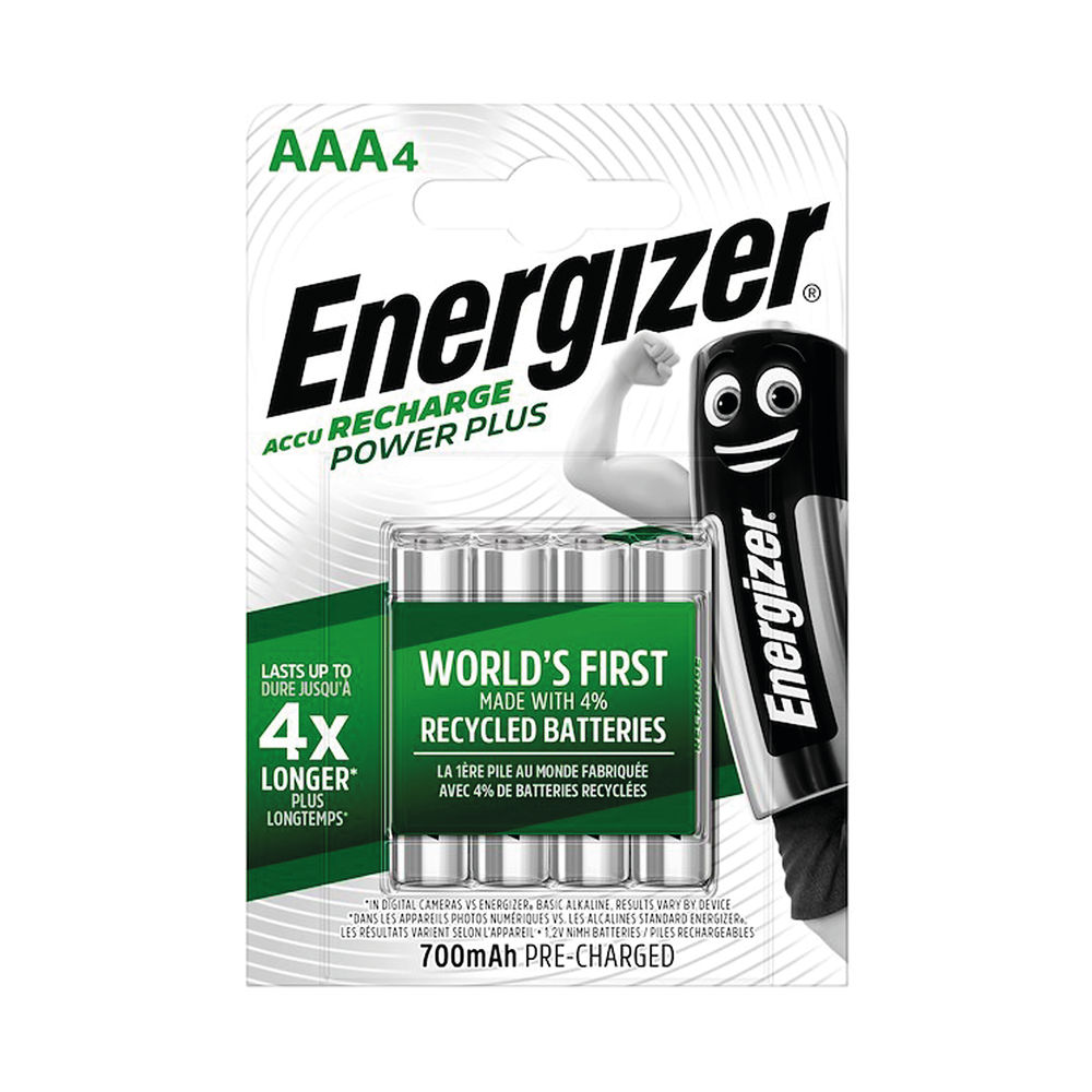 Energizer Power Plus Rechargeable AAA Batteries (Pack of 4) E300850300