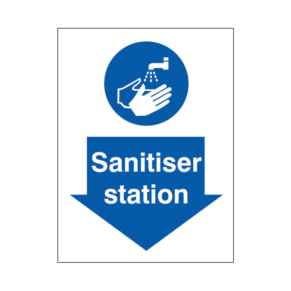 Safety Sign Sanitiser Station SAV 150 x 200mm M402SAV-150X200