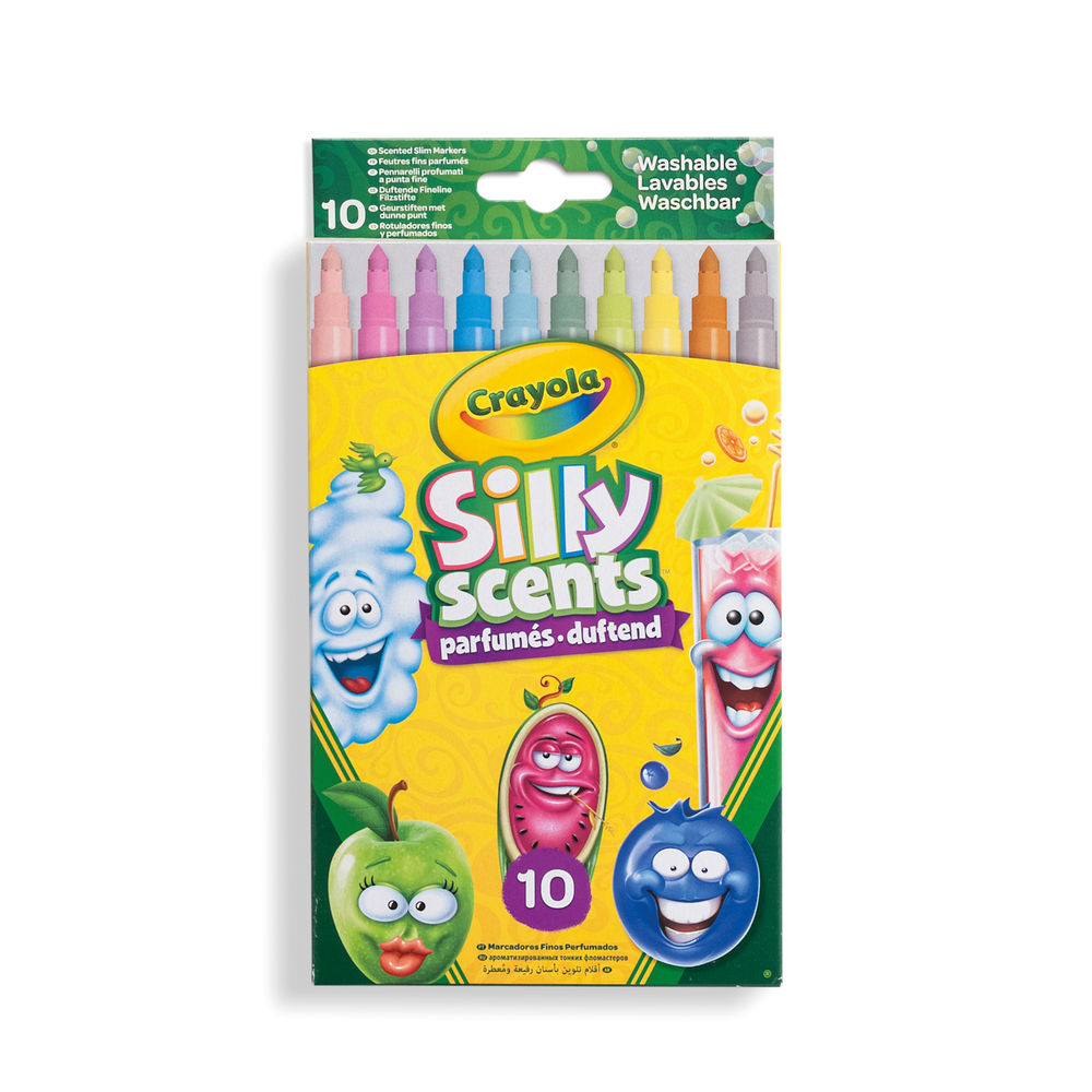 Crayola Assorted Fine Silly Scents Scented Markers, Pack of 60 - 58-5071-E-000