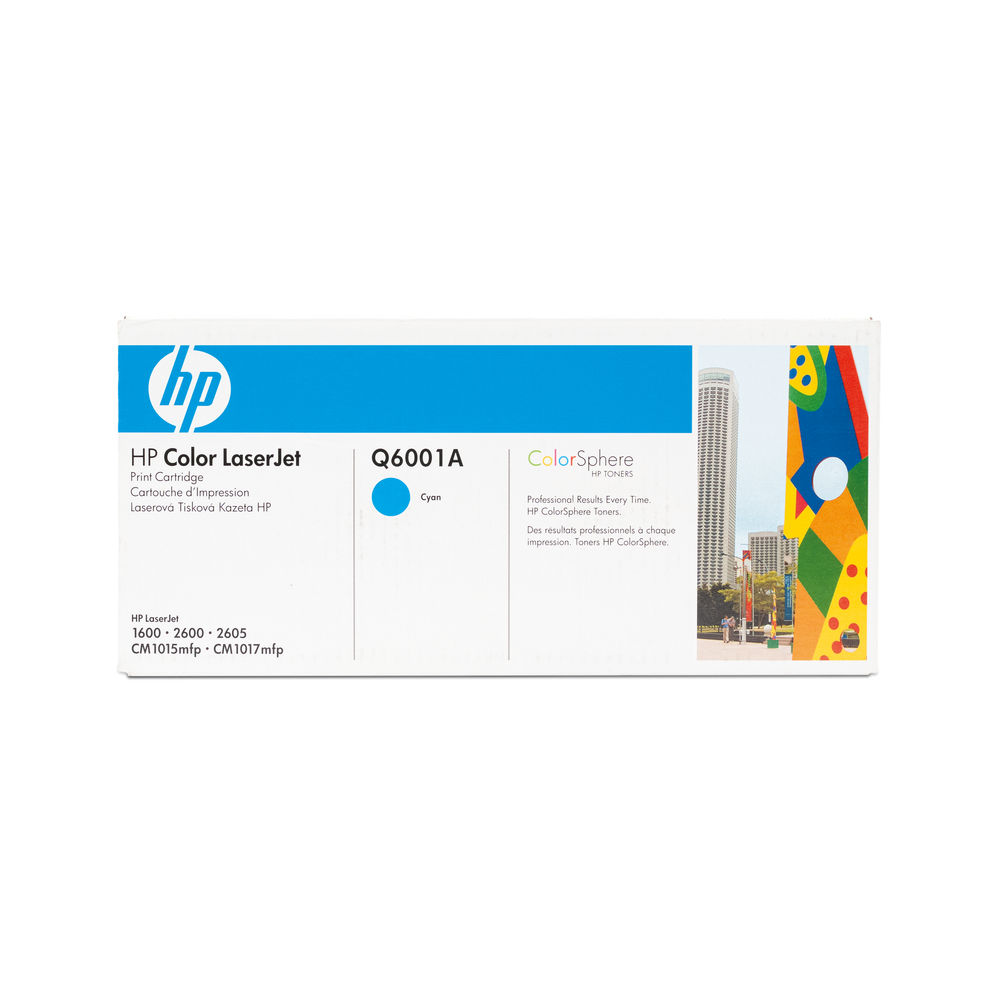 HP 124A Cyan Toner Cartridge - Q6001A