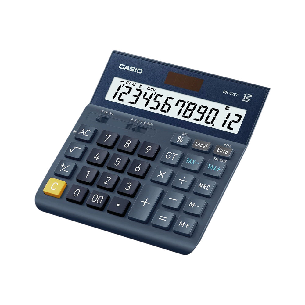 Casio DH-12ET 12 Digit Desktop Calculator DH-12ET-WK-UP