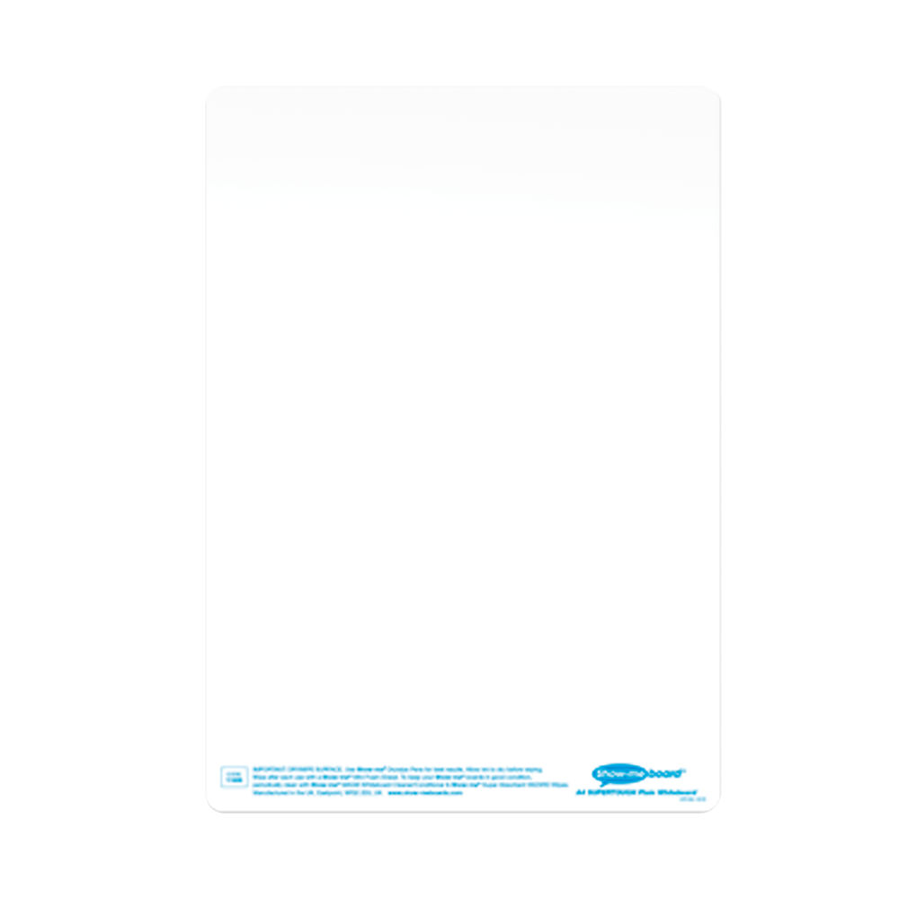 Show-me SUPERTOUGH Whiteboard A4 Plain (Pack of 35) C/SRP