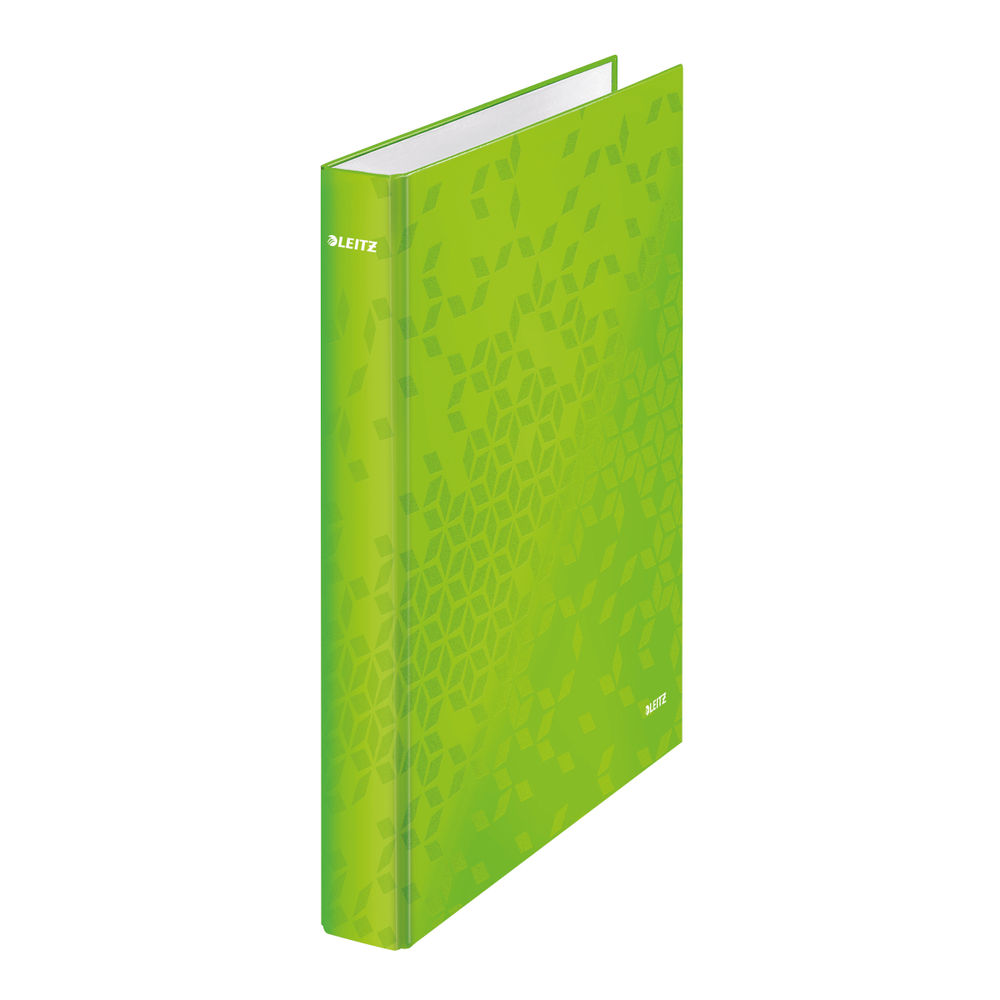Leitz WOW Green A4 25mm 2 D-Ring Binders, Pack of 10 - 42410054