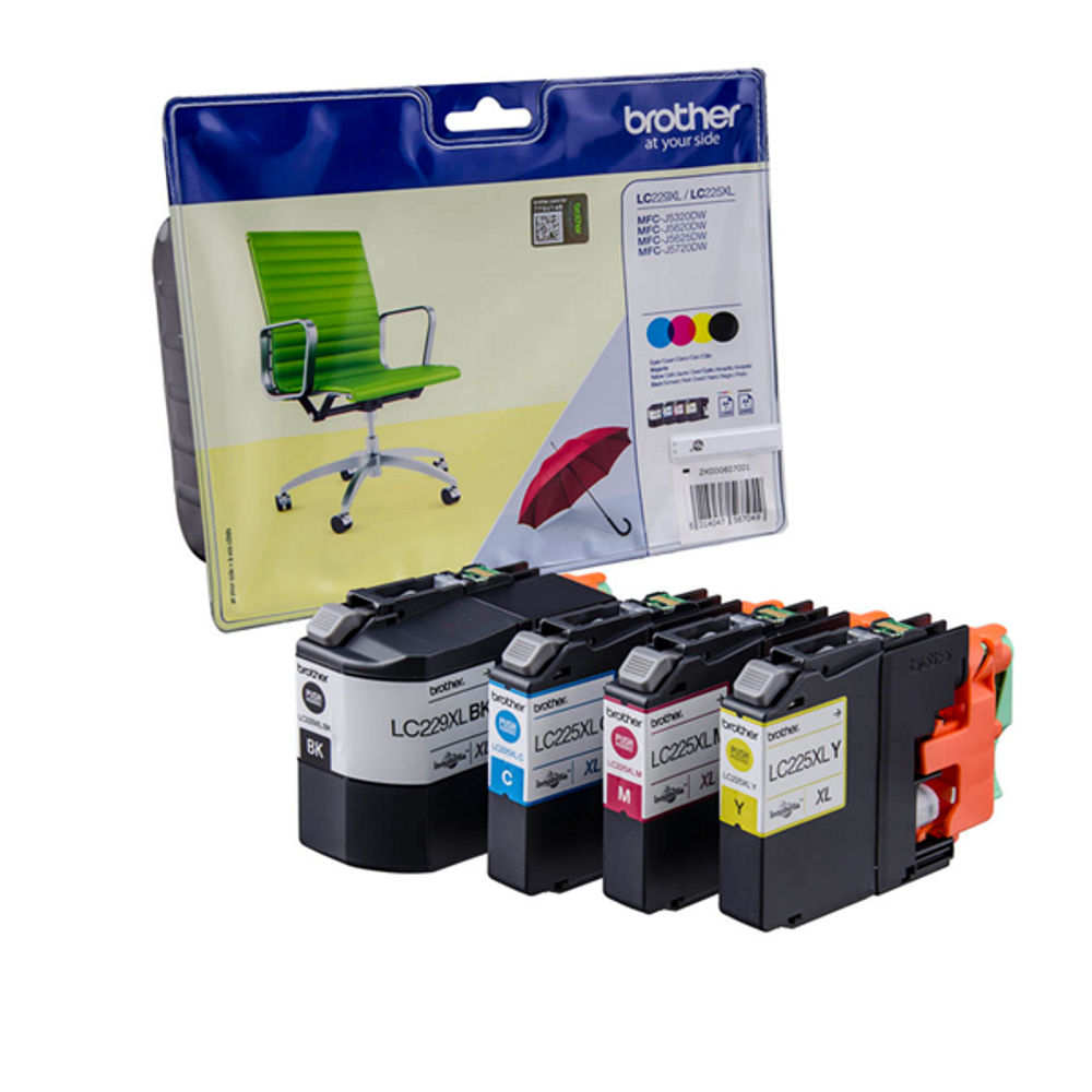 Brother LC225XL/LC229XL Ink Cartridge Value Pack - LC229XLVALBP