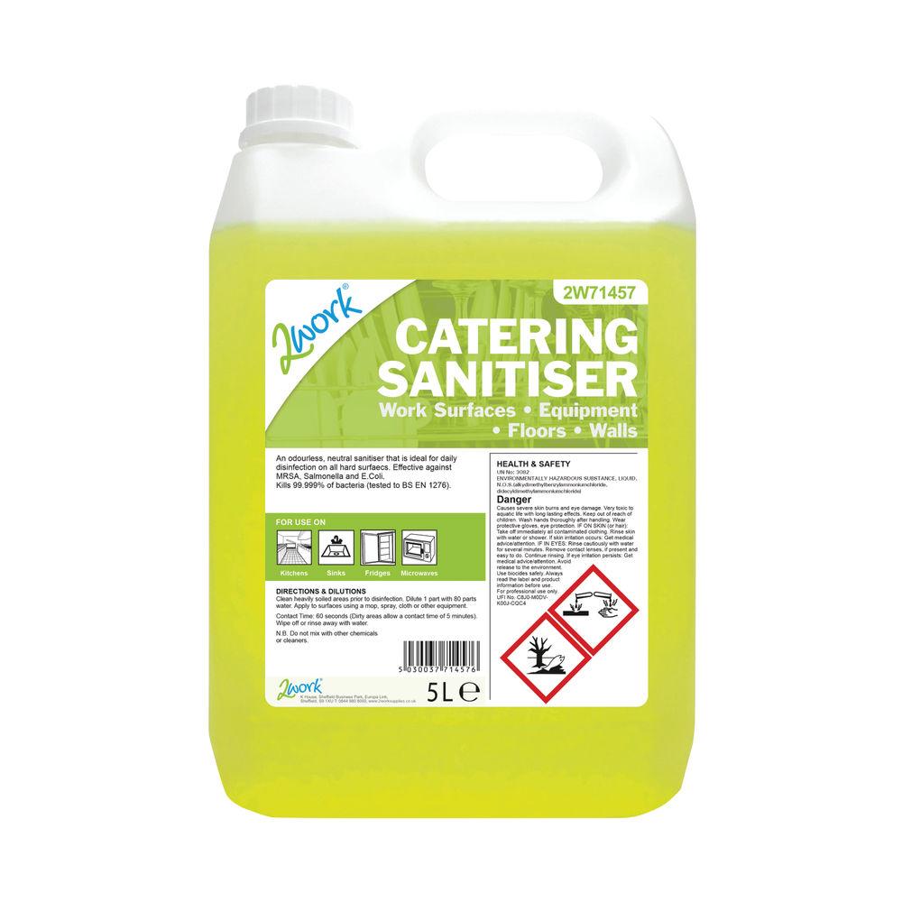 2Work Odourless Catering Sanitiser 5 Litre Bilk Bottle 2W71457