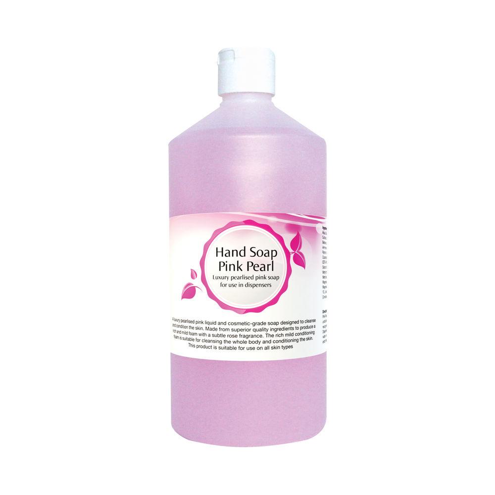 2Work Pink Pearlised Luxury Foamy Hand Soap 750ml 2W07558