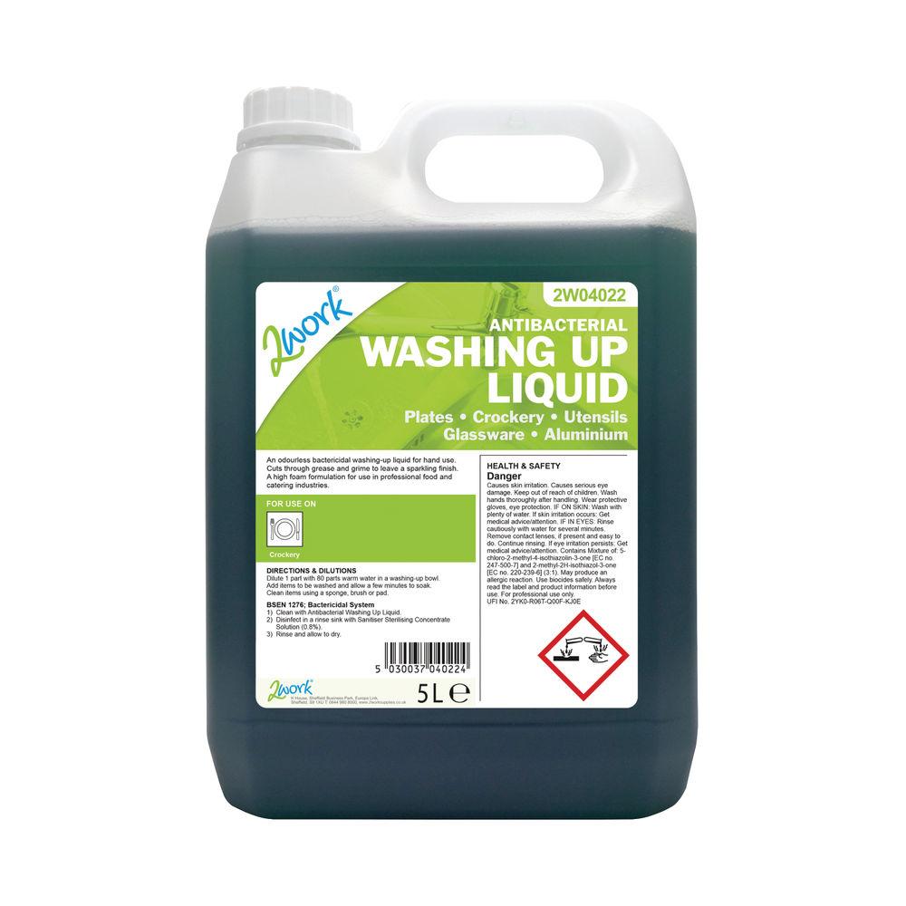 2Work 5L Antibacterial Washing Up Liquid – 2W04022