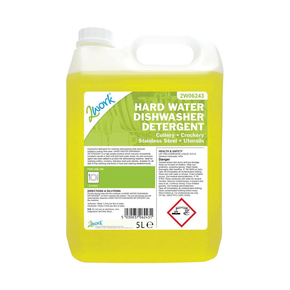 2Work Hard Water Dishwasher Detergent 5 Litre 303