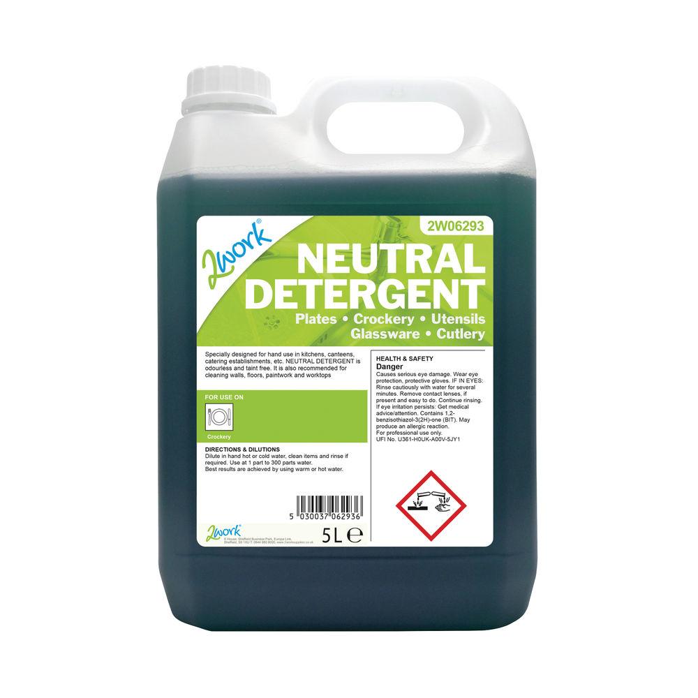 2Work 5L Dishwashing Neutral Detergent – 2W06293