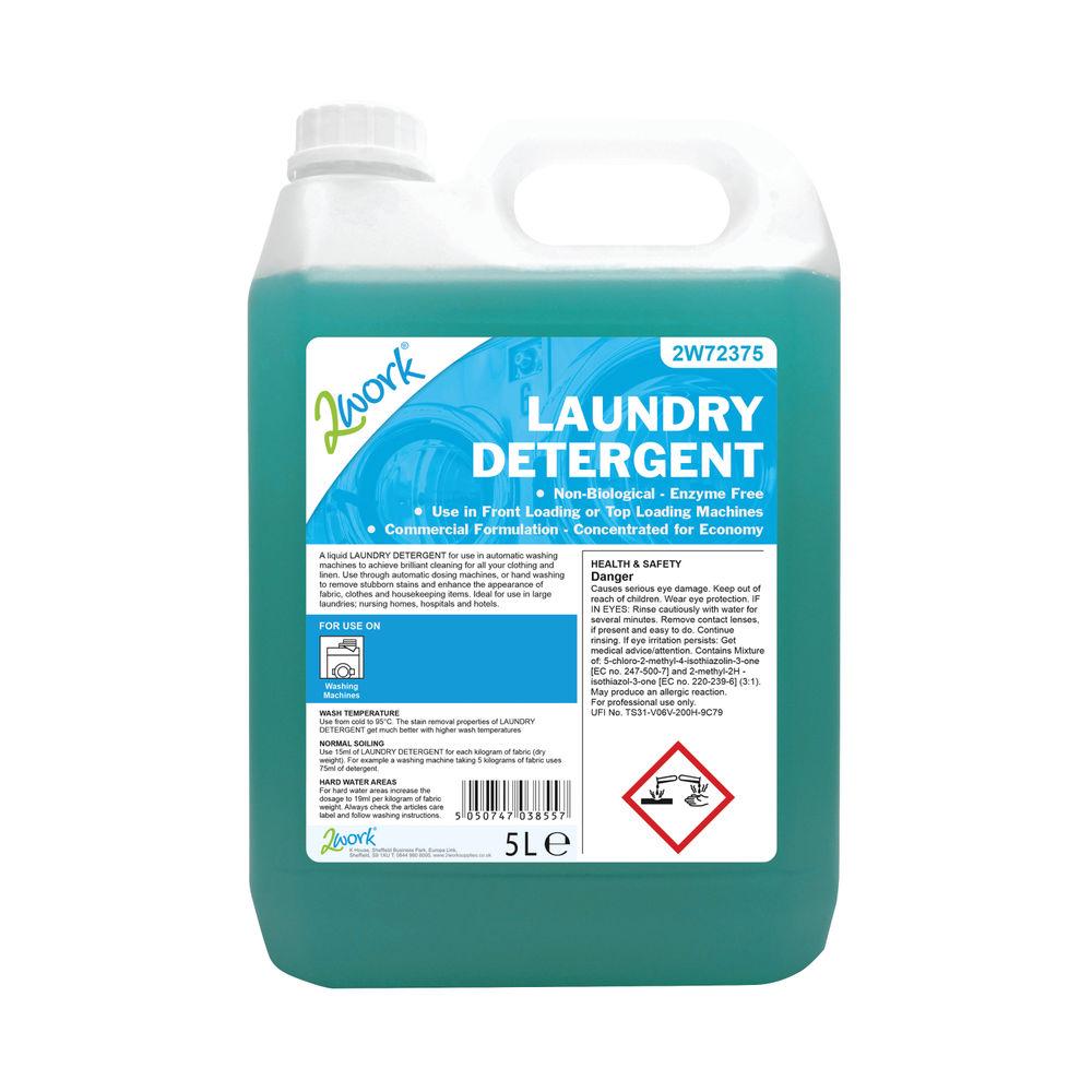 2Work Liquid Laundry Detergent for Auto-Dosing Machines 5 Litre 2W72375