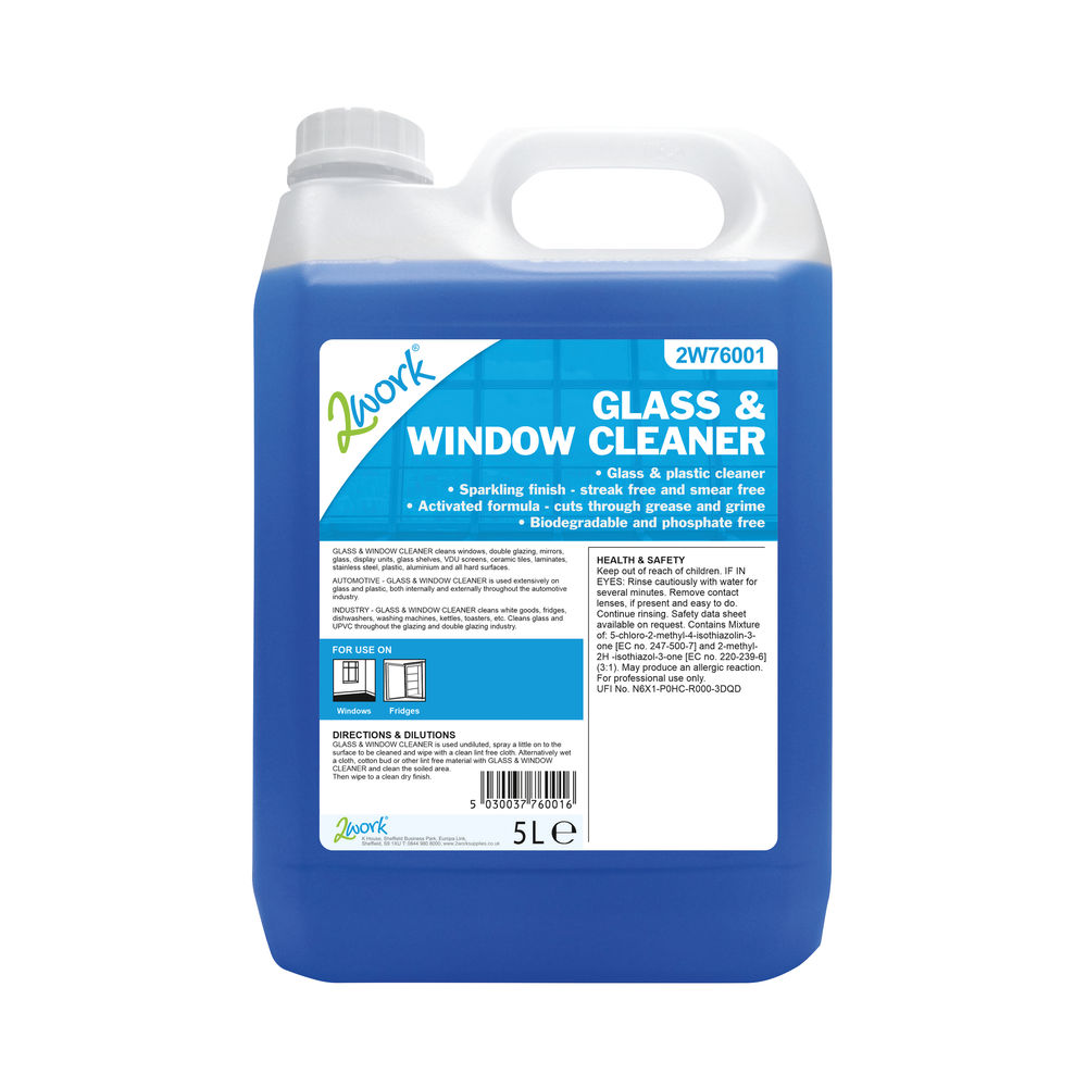 2Work 5L Glass and Window Cleaner – 701