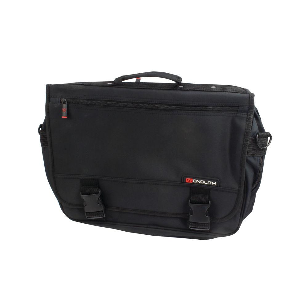 Expanding Flapover Briefcase Microfibre Material Black OEM: 3192