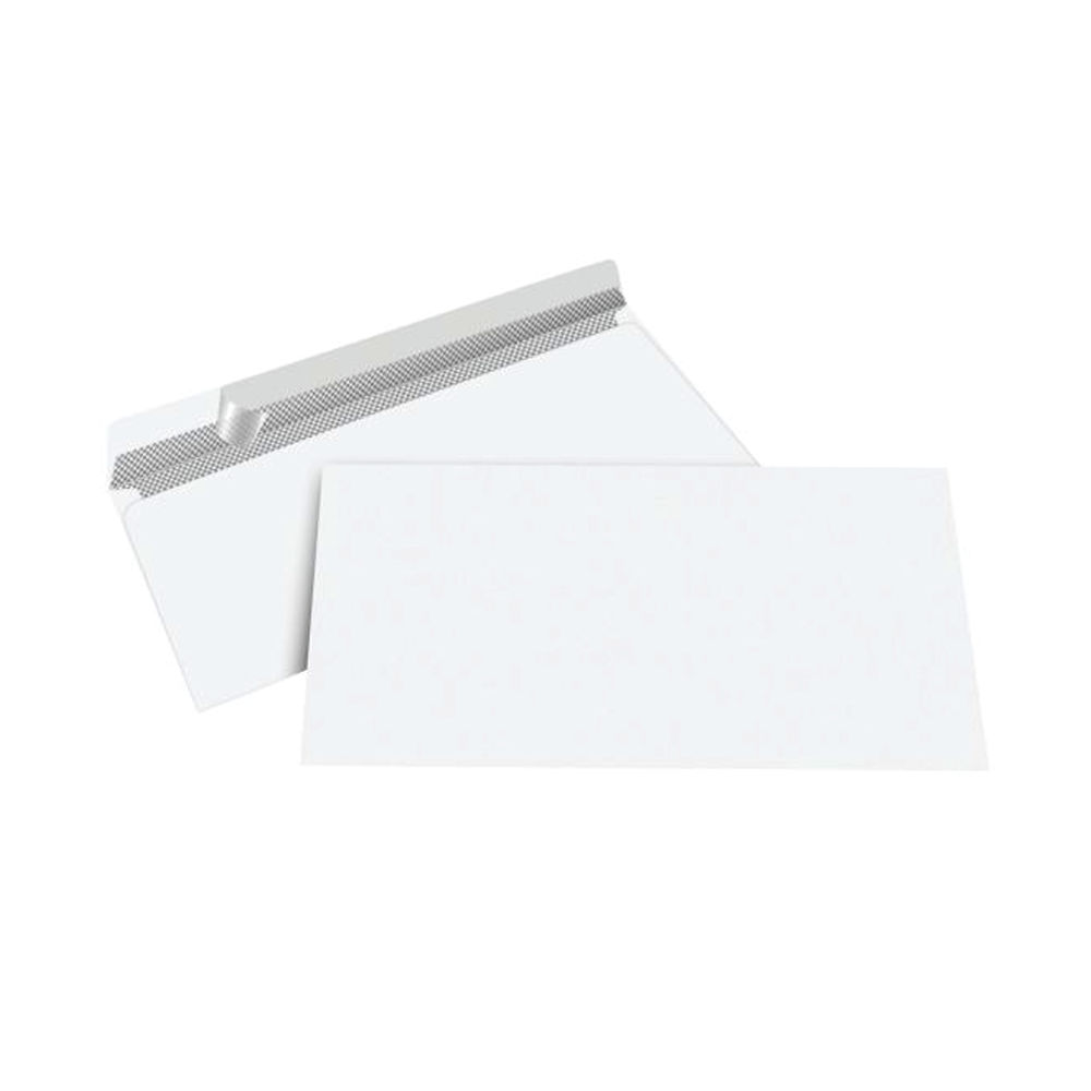 Staples Premium Business DL Envelope Peel and Seal 110x220mm White (Pack of 100) 5807454