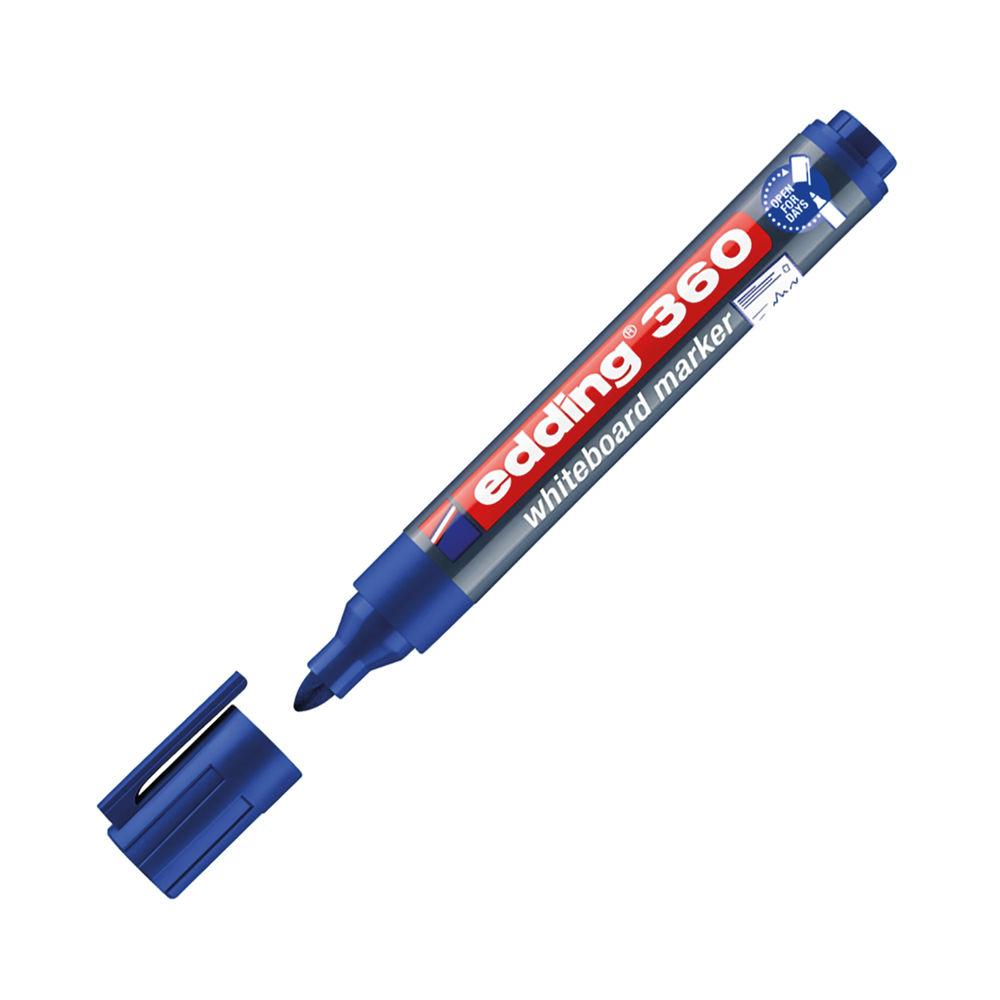 Edding 360 Whiteboard Marker Bullet Tip 1.5-3mm Blue 4-360003