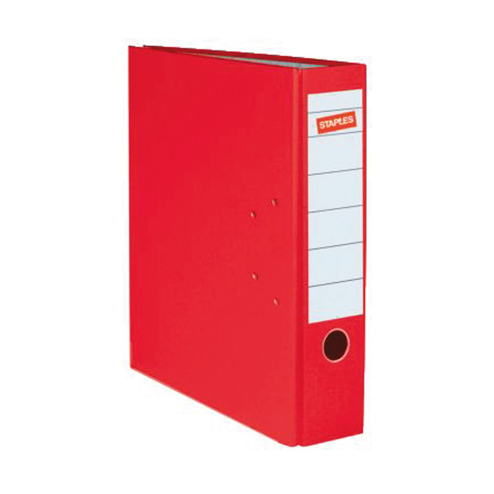 Staples 80mm A4 Lever Arch File Red 26748STAP