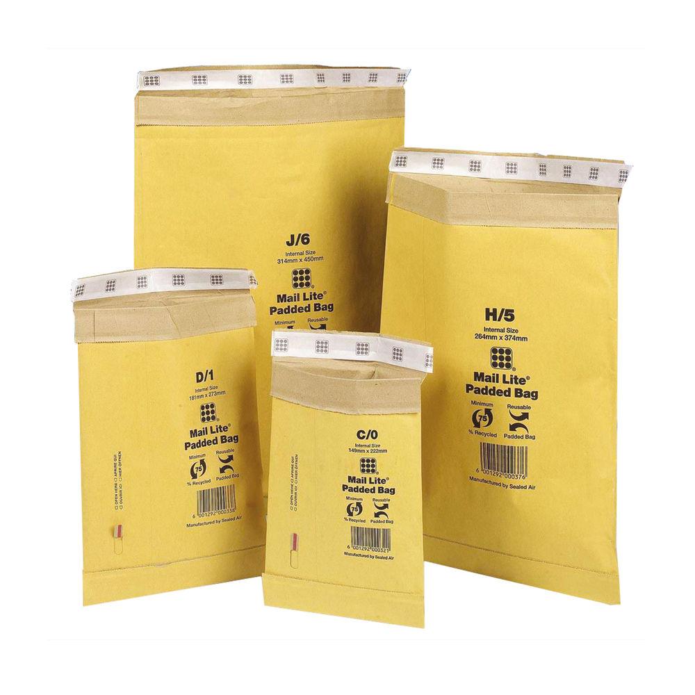 Mail Lite AirCap G/4 Padded Mailer Self-Adhesive 336 x 238mm 100943480