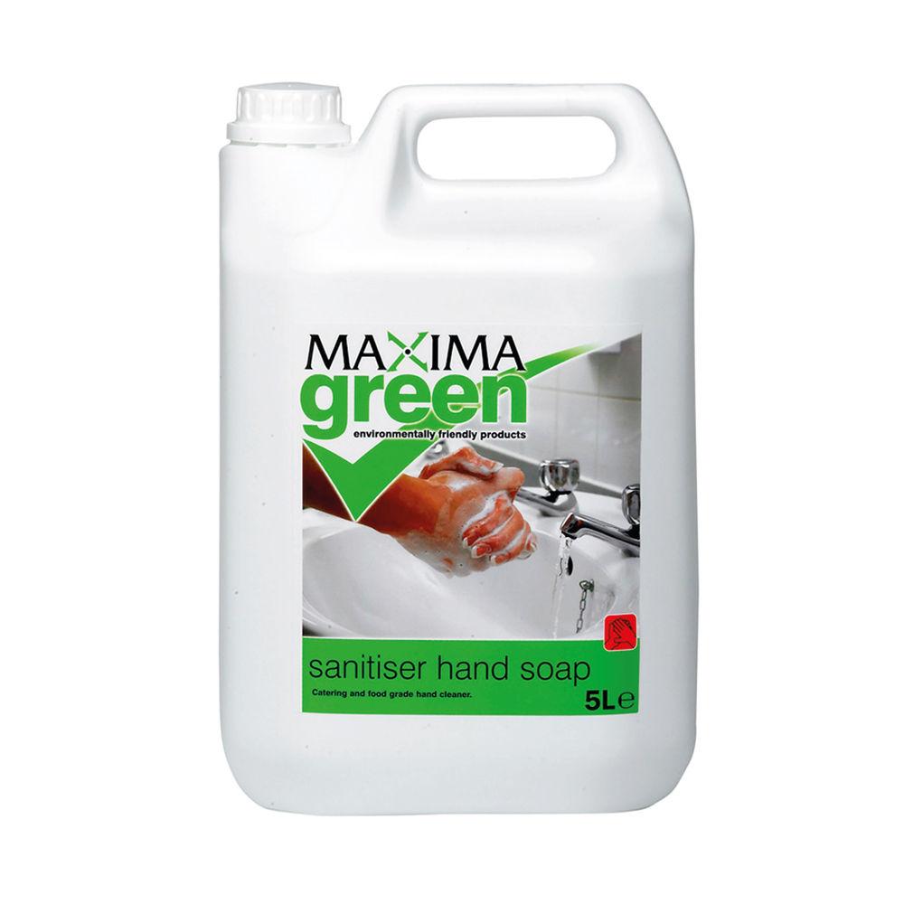 Maxima Green Sanitising Hand Wash Liquid 5L VSEMAXC32G/