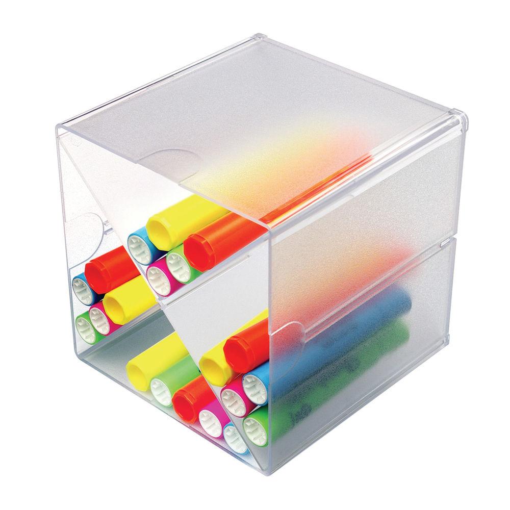 Deflecto X Divider Stackable Cube Organiser 152x152mm Clear DE350201