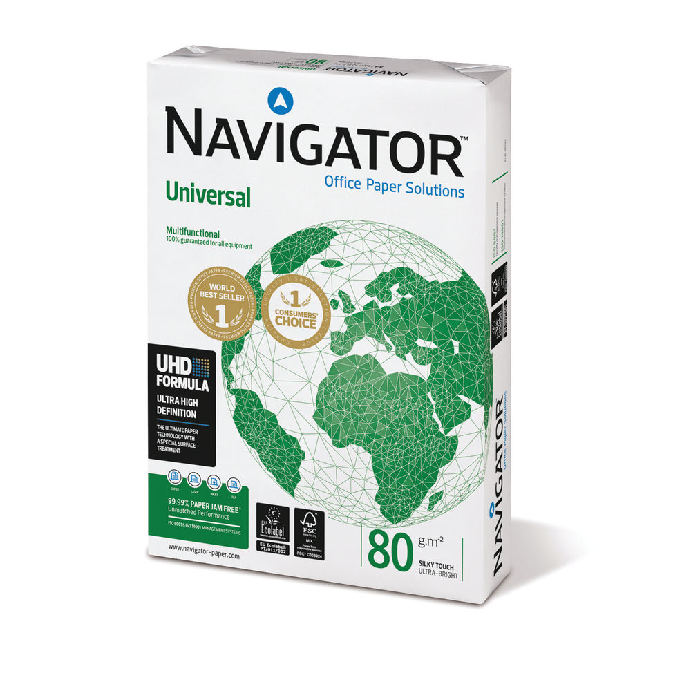 Navigator A3 White Universal UHD Paper 80gsm (Pack of 500) NUN0800335