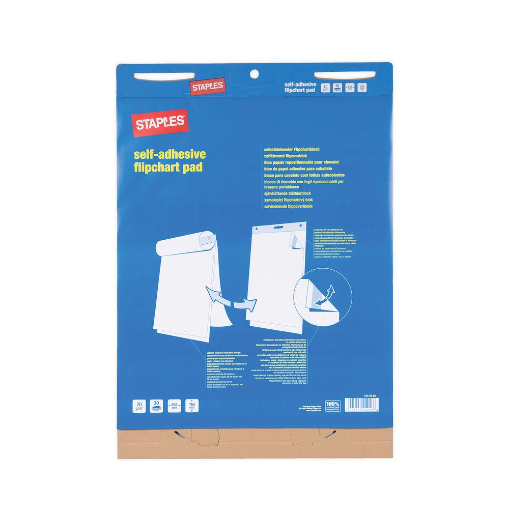 Staples Stickies Flipchart Pad 70gsm 30 Sheets White FL1221307
