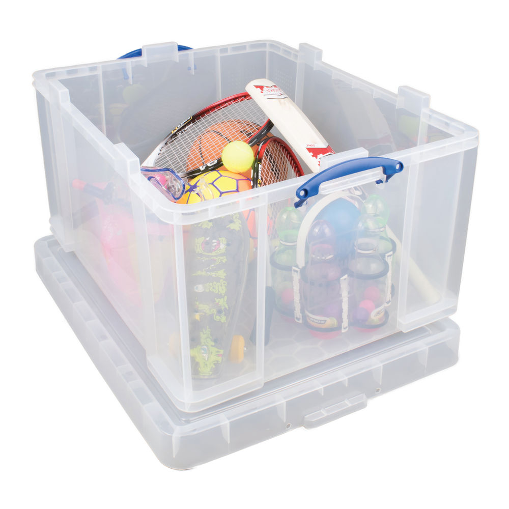 Really Useful 145L Plastic Storage Box With Lid Clear 145CCB