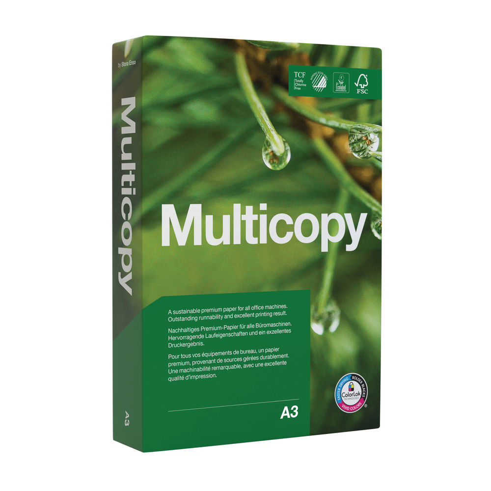 MultiCopy A3 White Premium Paper 90gsm (Pack of 500) 157084