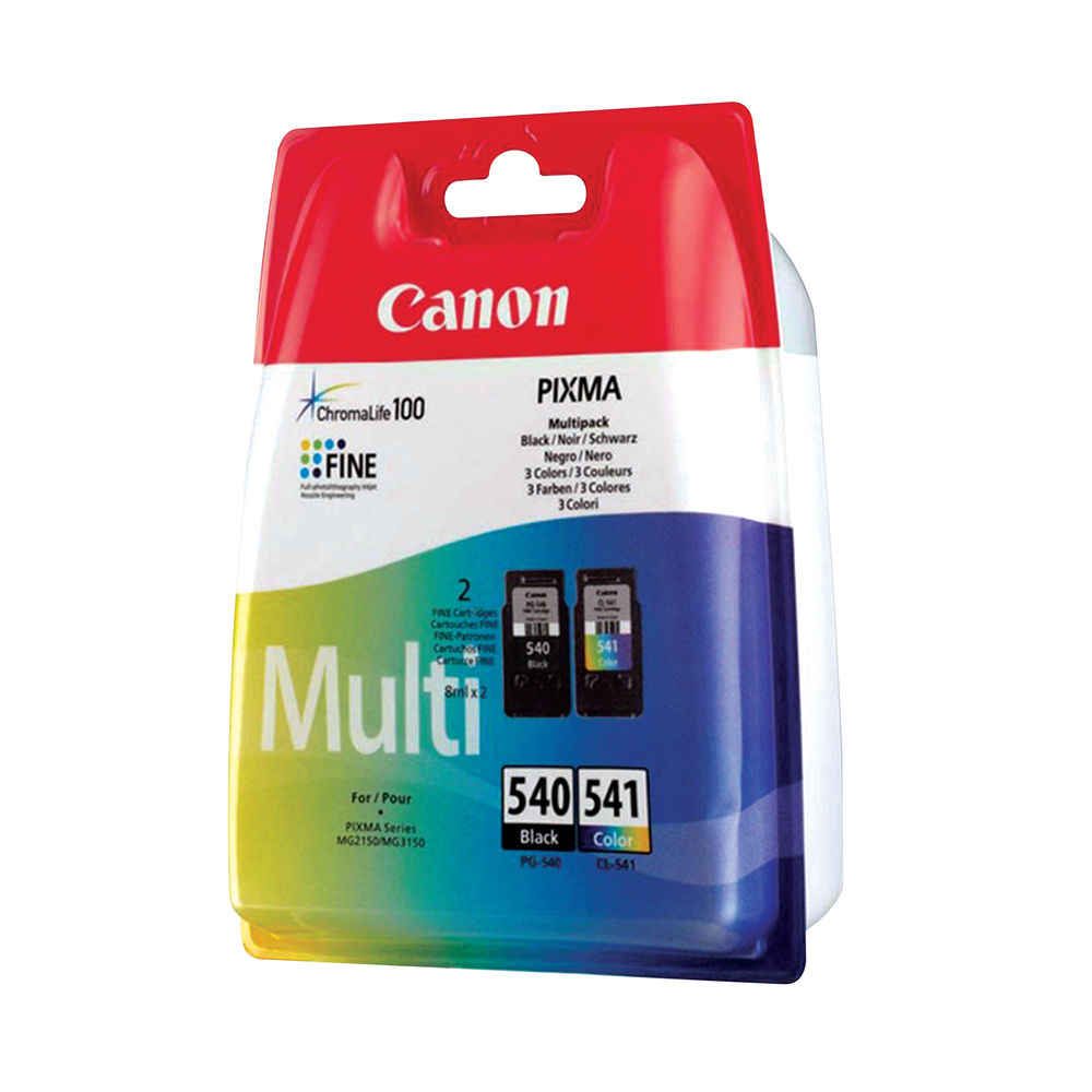 Canon PG-540/Cl-541 CMYK Multi Pack Ink Cartridges 5225B007