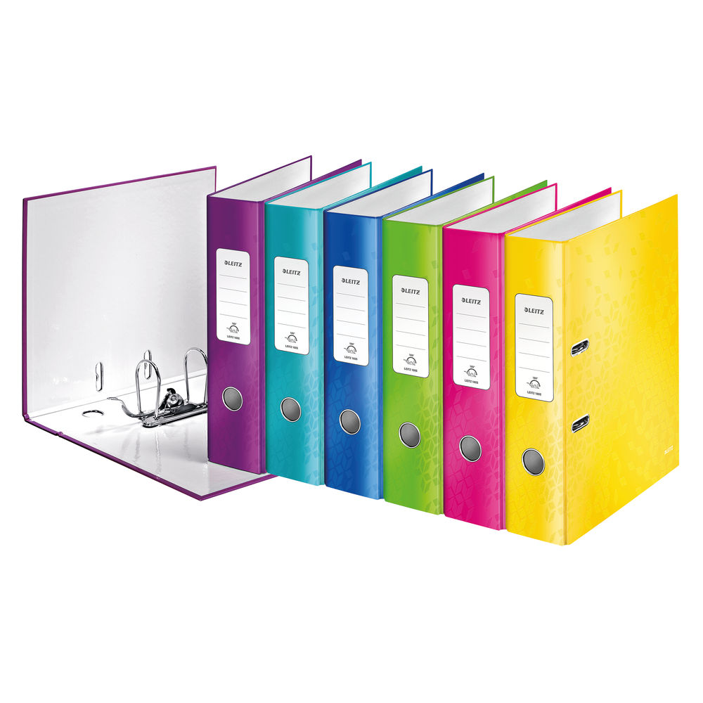 Leitz WOW Assorted A4 Lever Arch Files 80mm- Pack of 10 - 10050099