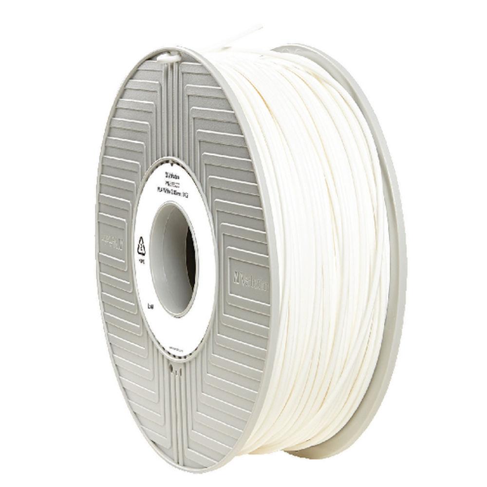 Verbatim White 2.85mm PLA 3D Printing Filament, 1kg Reel - 55277
