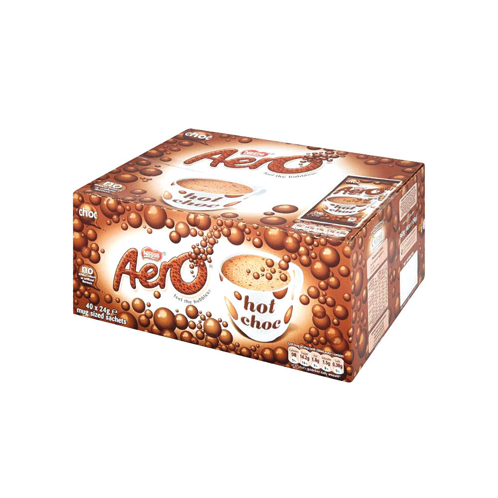 Nestle Aero Hot Drinking Chocolate 24g (Pack of 40) 12203209
