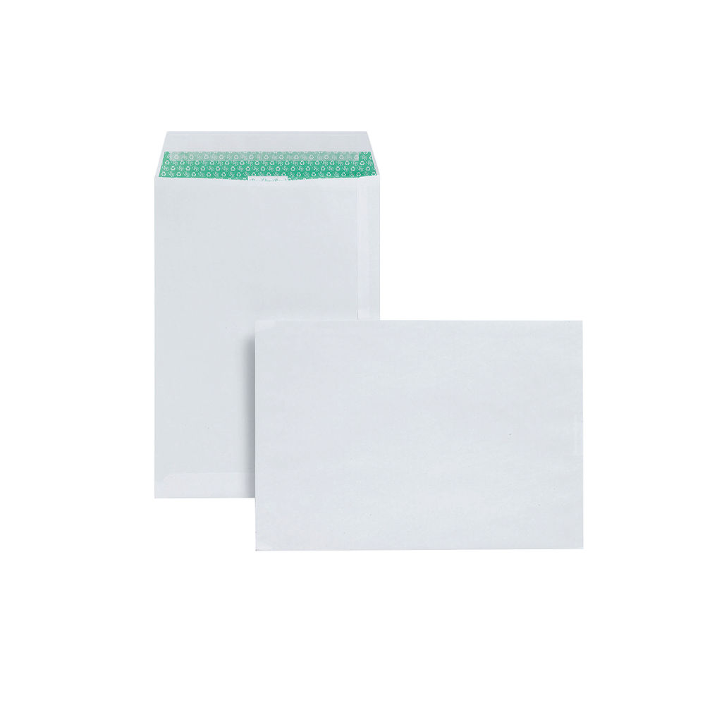 Basildon Bond White C4 Peel and Seal Recycled Envelopes, Pack of 50 - JDL80281
