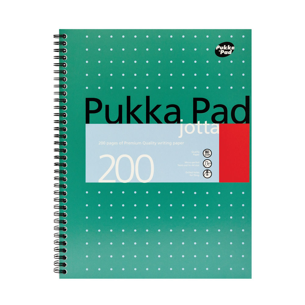 Pukka Pad A4 Wirebound Metallic Jotta Pads - Pack of 3 - JM018