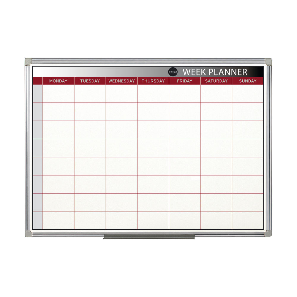 Bi-Office 900 x 600mm Magnetic Week Planner - GA0333170
