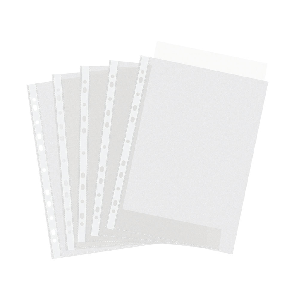 A4 Punched Plastic Wallets (Pack of 100) – PM22438