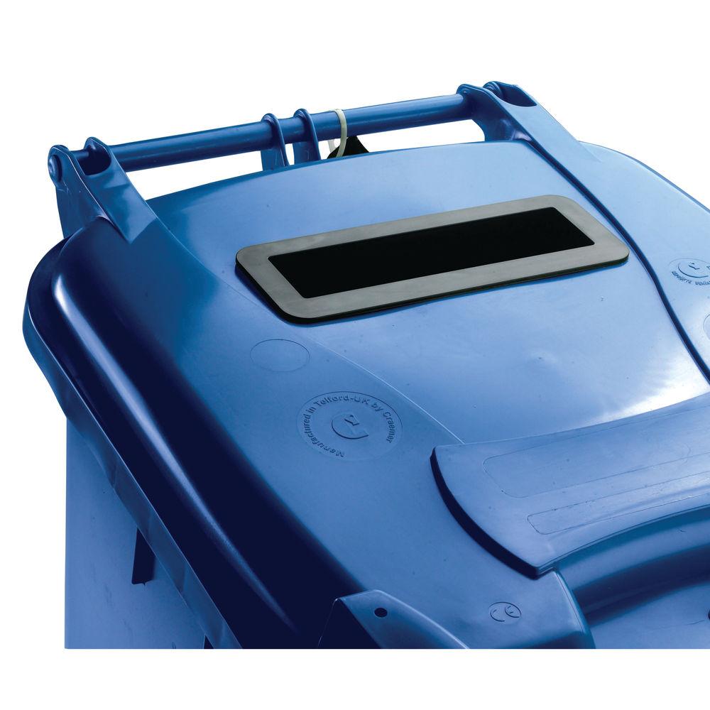 Confidential Waste Wheelie Bin 240 Litre Blue 377892