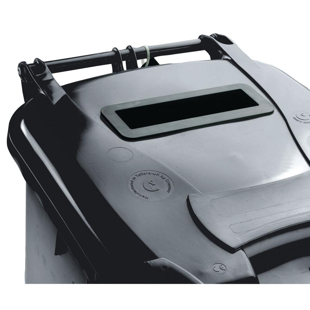 Confidential Waste Wheelie Bin 360 Litre Grey 377882