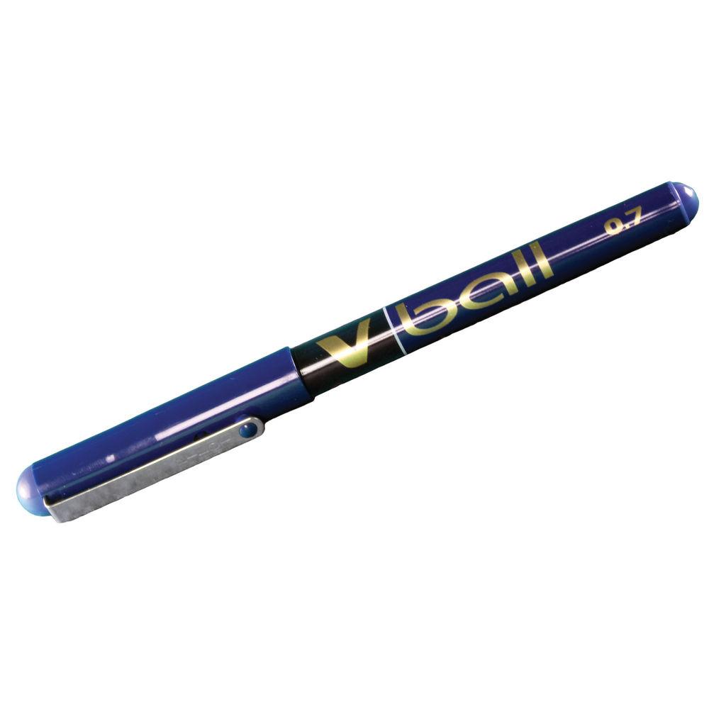 Pilot V-Ball Blue Rollerball Pens, Pack of 12 - BLVB703