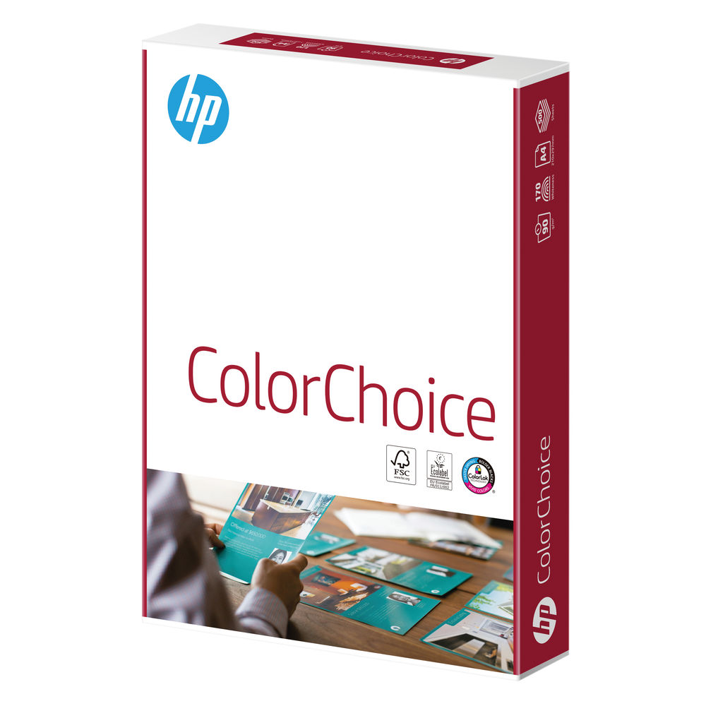 HP Color Choice A4 White Paper, 90gsm, 500 Sheet Ream- HCL0321