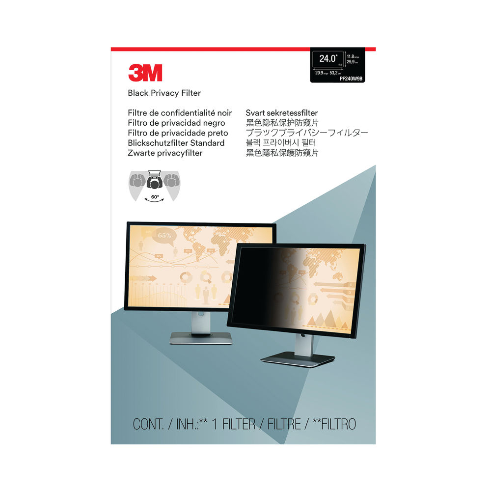 3M 24 Inch LCD Widescreen Privacy Filter - PF240W9B