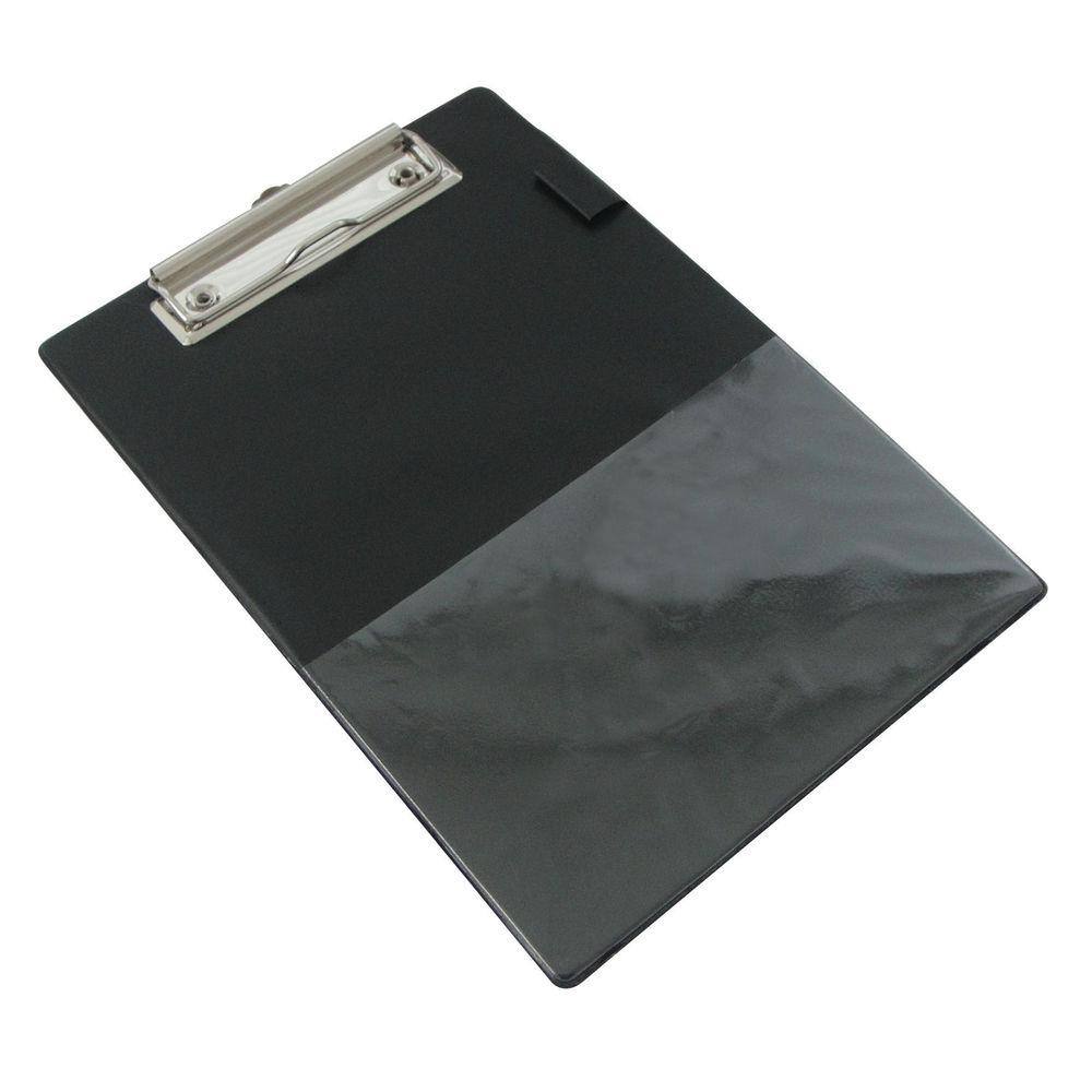 Rapesco Standard Clipboard PVC Retractable Hanging Hole A5 Black 1072