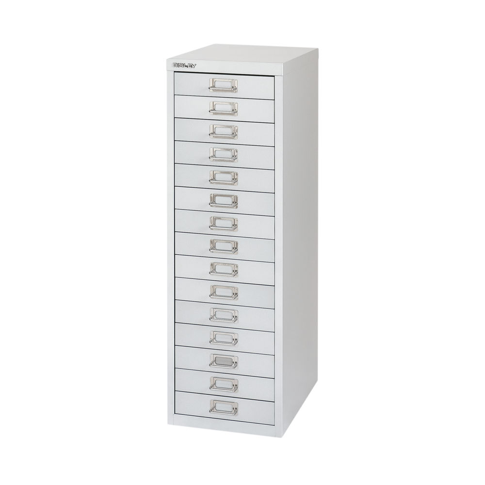 Bisley 860mm Silver 15 Drawer Filing Cabinet - BY58420