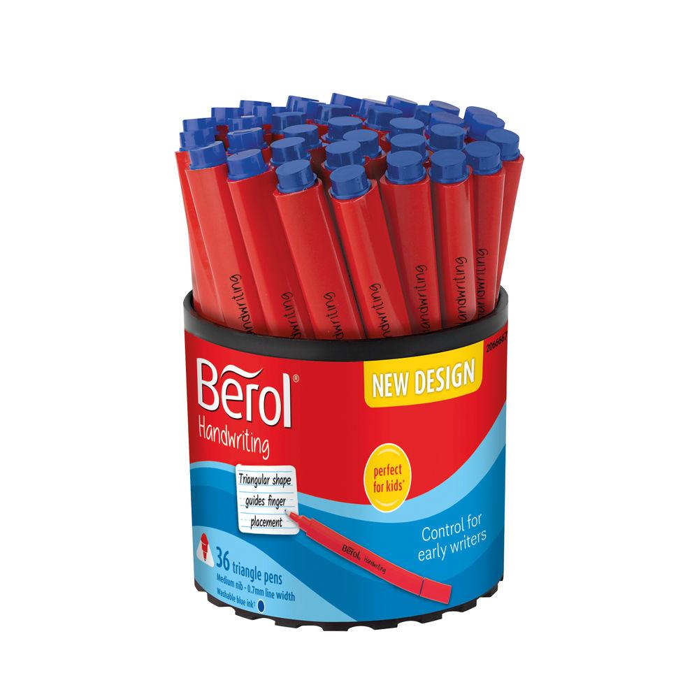 Berol Handwriting Triangular Pen Blue (Pack of 36) 2066667
