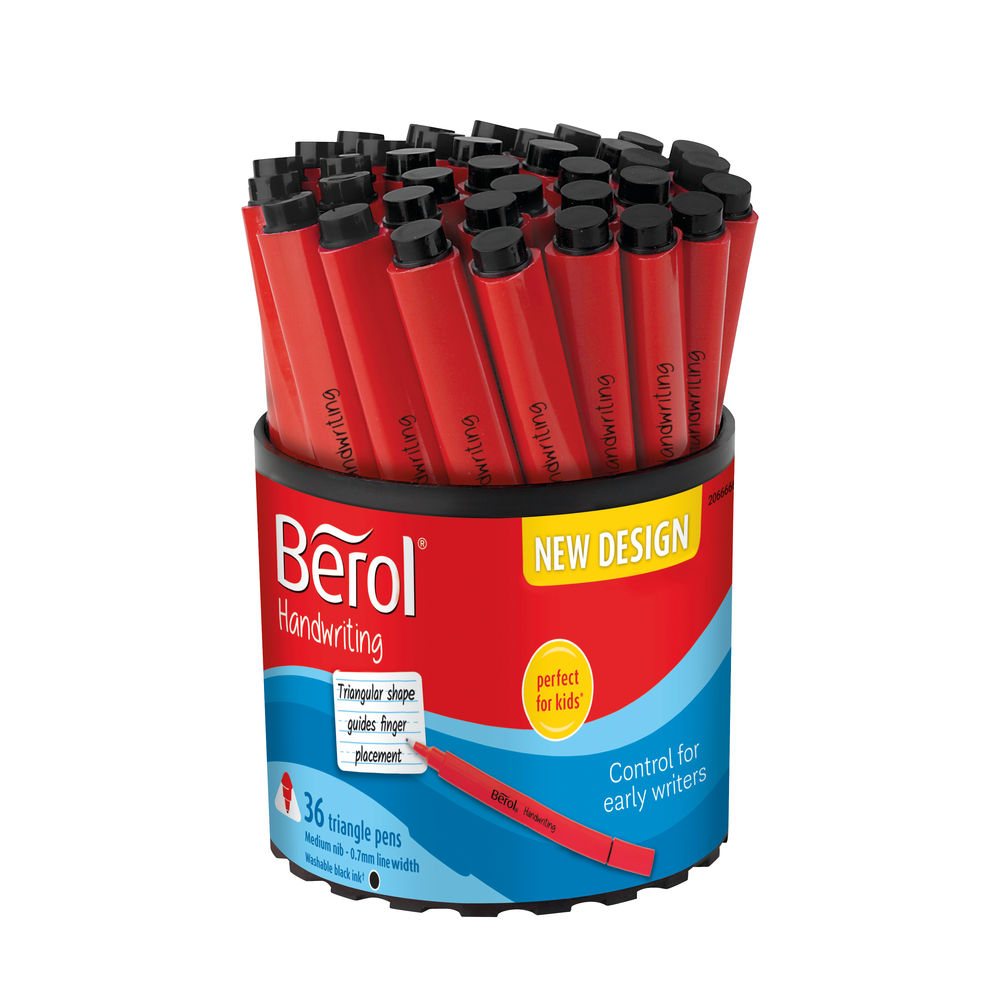 Berol Handwriting Triangular Pen Black (Pack of 36) 2066666