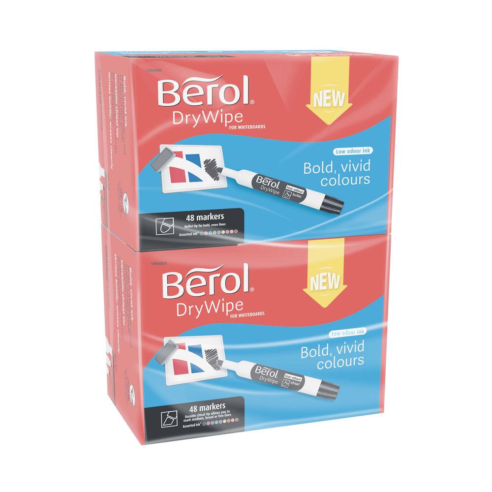 Berol Drywipe Marker Chisel Tip Assorted (Pack of 96) 1984888