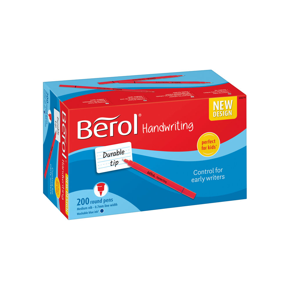 Berol Handwriting Pen Blue (Pack of 200) 2056779