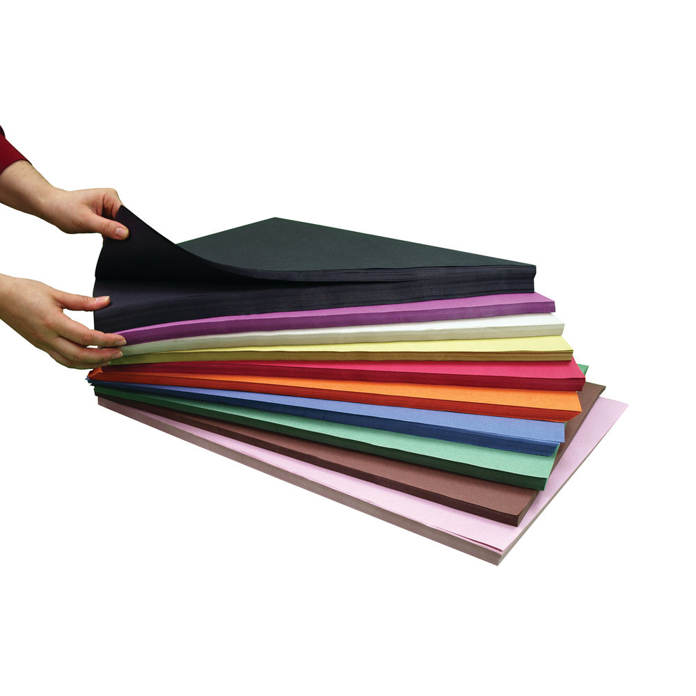 A2 Assorted Sugar Paper Stack (Pack of 1000) D98001CI101