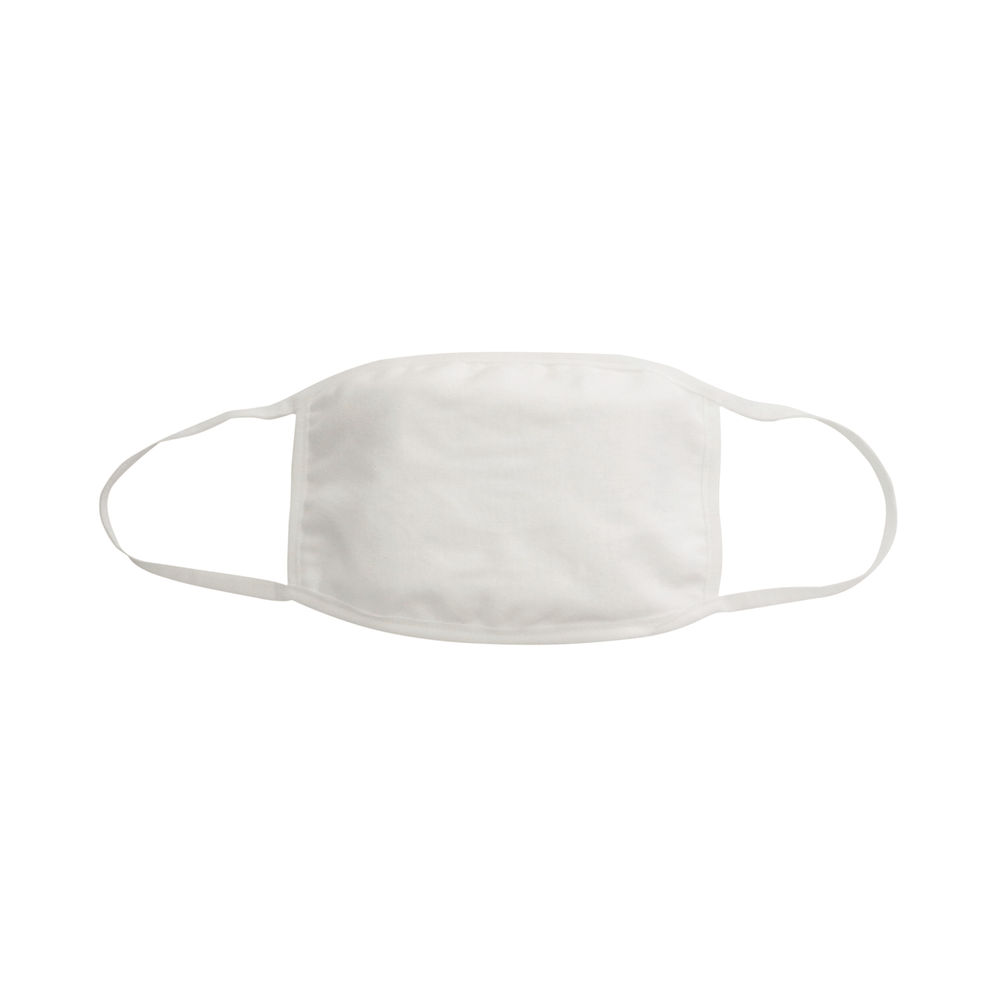 Reusable Cloth Masks 5x7in 4 Layer Cotton White (Pack of 5) SY-200425W